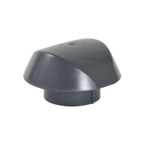 Chapeau de ventilation sans moustiquaire Ø100 anthracite
