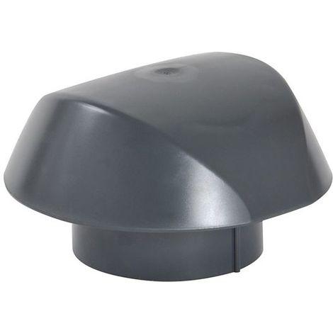 Chapeau de ventilation sans moustiquaire O125 anthracite