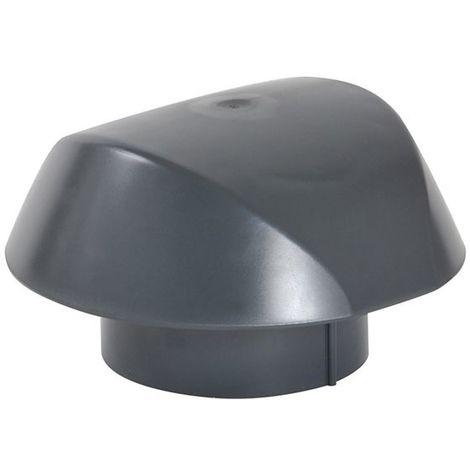 Chapeau de ventilation sans moustiquaire O160 anthracite