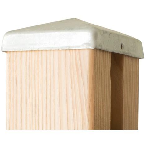 Chapeau galvanisé pour poteau de clôture bois FAREL®