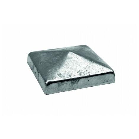 Chapeau Poteau Carré Pyramide 10x10cm zingué à chaud