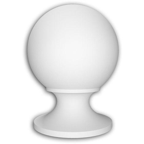 Chapeau poteau de balustrade Profhome 477101 Moulure exterieure Balustrade Élément de façade style Néo-Classicisme blanc
