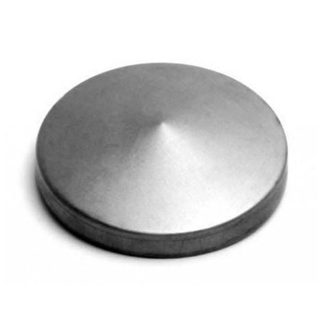 Chapeau Poteau Rond Pyramide de diamètre Ø 80 mm zingué à chaud