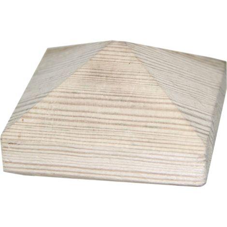 Chapeau Pyramide en bois - Dessus de poteau 7X7 cm