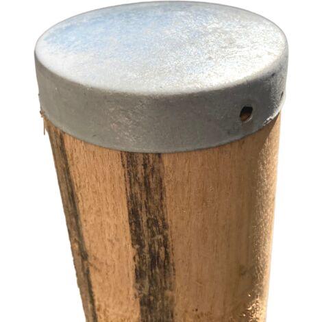Chapeau Rond galvanisé - Dessus de poteau Ø8 cm