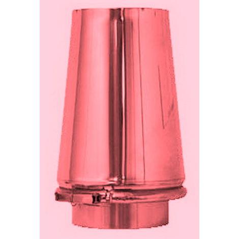 Chapeau tronc conique cheminée de cuivre isolé DN 150/200