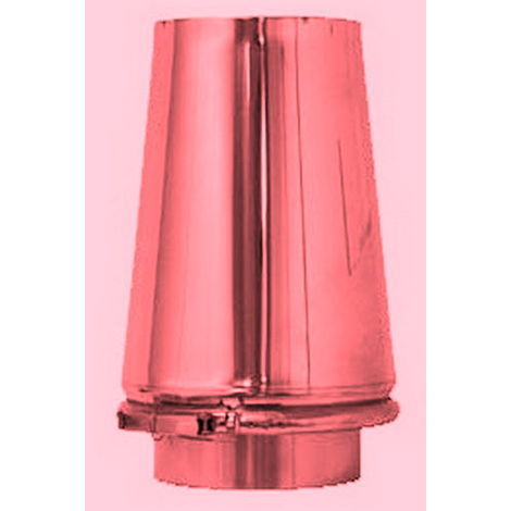 Chapeau tronc conique cheminée de cuivre isolé DN 450/500