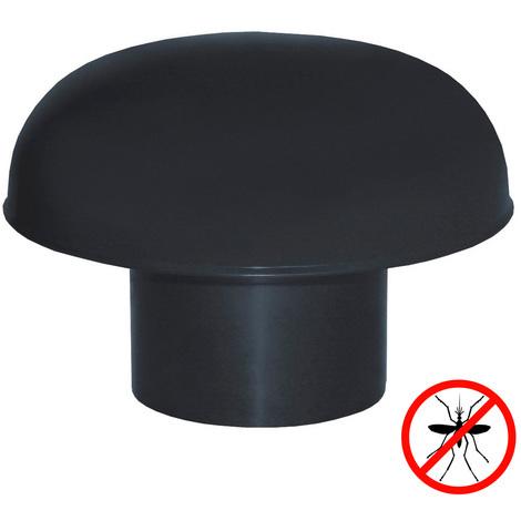 Chapeaux de ventilation PVC avec moustiquaire - Ardoise