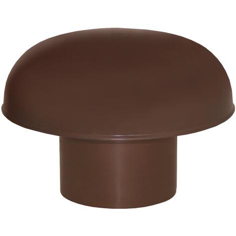 Chapeaux de ventilation PVC sans moustiquaire - Marron - Ø80 ou 100