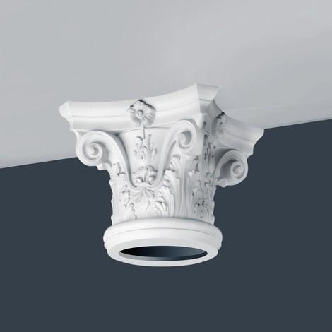 Chapiteau Colonne entière Elément de stuc Orac Decor K1122 LUXXUS en mousse solide léger et stable