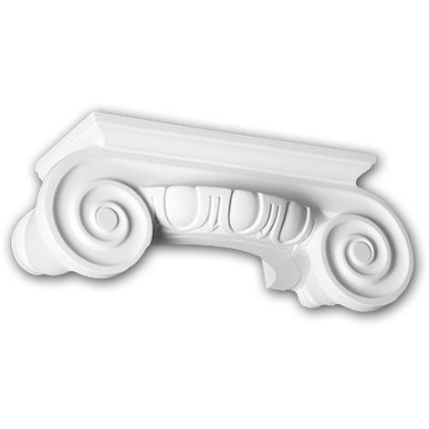 Chapiteau de demi-colonne 115004 Profhome Colonne Élement décorative style ionique blanc