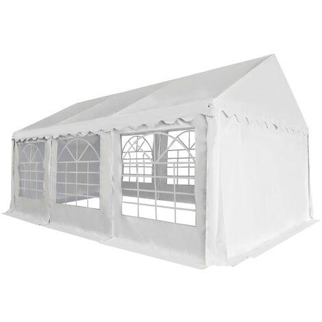 Chapiteau de jardin PVC 3 x 6 m Blanc