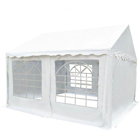 Chapiteau de jardin PVC 3x4 m Blanc