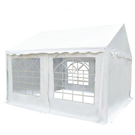 Chapiteau de jardin PVC 4 x 4 m Blanc