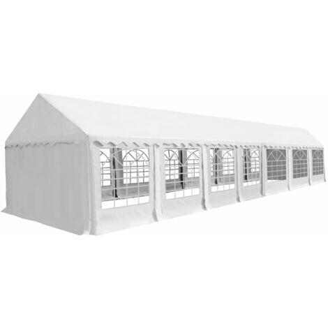 Chapiteau de jardin PVC 6 x 14 m Blanc