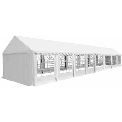 Chapiteau de jardin PVC 6 x 16 m Blanc