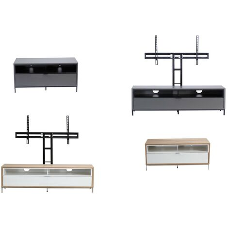 """Chaplin Charcoal Grey TV Cabinet Stand Unit For Up To 52"""" Screen"""