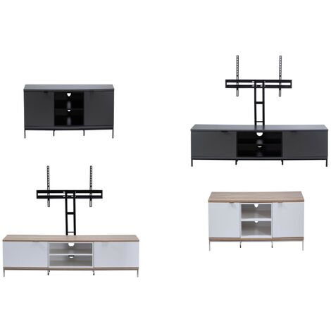 """Chaplin Charcoal Grey TV Cabinet Stand Unit For Up To 70"""" Screen"""
