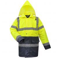 chaqueta alta visibilidad para caballero amarilla+azul talla XL