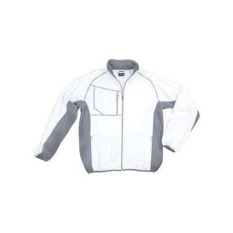 Chaqueta Campo, Talla M, blanco/gris