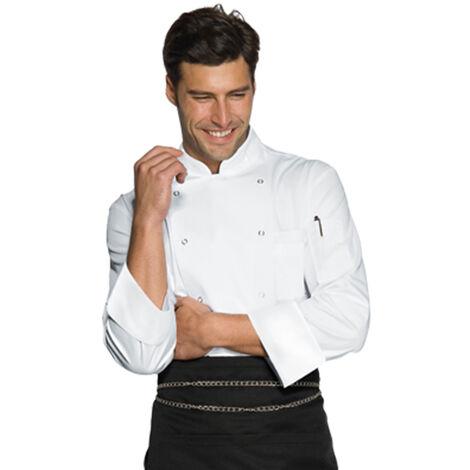 Chaqueta cocina Berlino blanco unisex