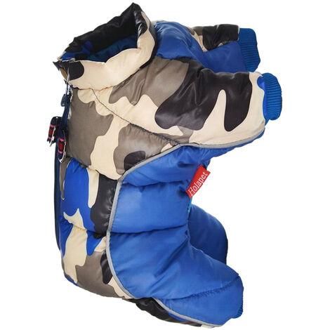 Chaqueta de algodon de cuatro patas Ropa de abrigo para perros, azul, XL