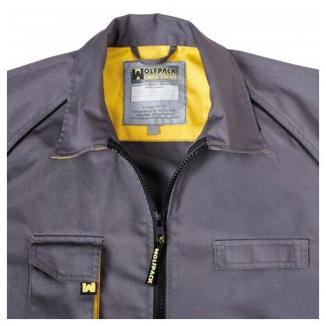 Chaqueta de trabajo gris/amarillo talla 48/50 m
