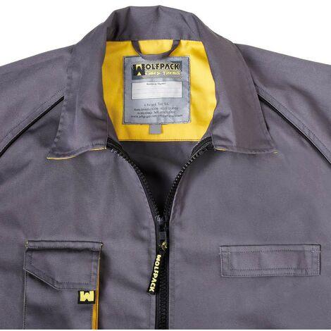 Chaqueta de trabajo gris/amarillo talla 52/54 l