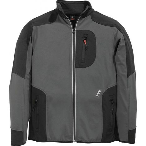 Chaqueta de trabajo Ralf,Jersey-Fleece, Talla XL, antracita/negro
