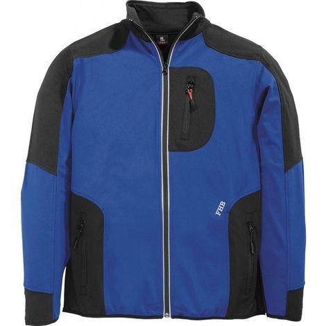 Chaqueta de trabajo Ralf,Jersey-Fleece, Talla XL, real/negro