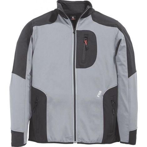 Chaqueta Ralf, paño grueso y suave de Jersey, talla 2XL, gris/negro