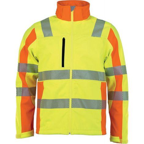 Chaqueta softshell de alta visibilidad PREVENT amarillo Talla M