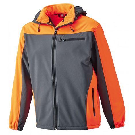 Chaqueta Softshell invierno Talla 3XL,gris/naranja vivo