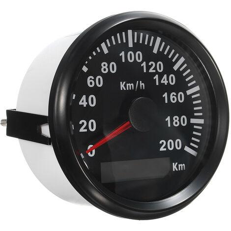 CharacterL GPS Tachymètre Compteur 200KM/H 12V 24V Voiture Moto Vitesse Odomètre Speedo Etanche