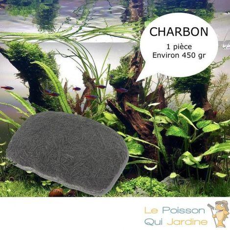 Charbon Actif 450 gr Avec filet pour purifier l'eau de votre aquarium et bassin
