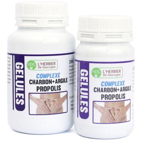 Charbon Argile Propolis - 120 gélules