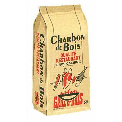 Charbon bois 50 l qualite alimentaire ref.571