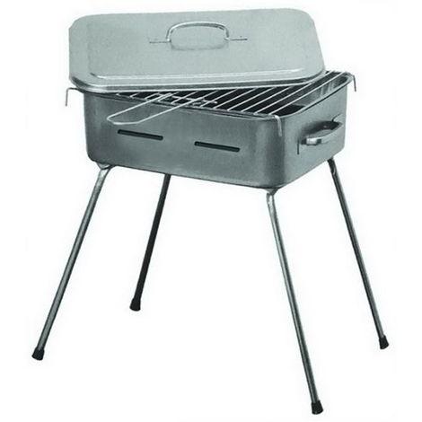 charbon de bois barbecue portable pour barbecue Fornacetta, cm. 35x30, pieds repliables.