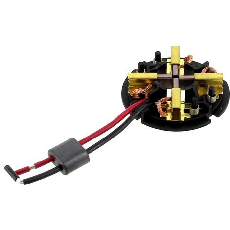 Charbons moteur + support 4931431942 pour Perceuse Milwaukee, Perceuse Berner
