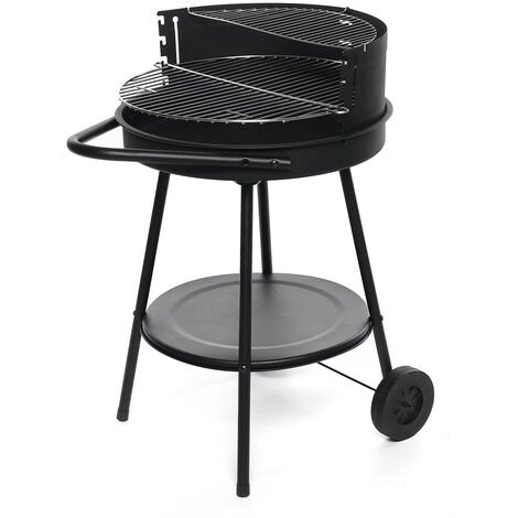 """main image of """"Charcoal Barbecue Grill Portable BBQ Grill Outdoor Garden BBQ w/ Wheels 48X82CMcm"""""""