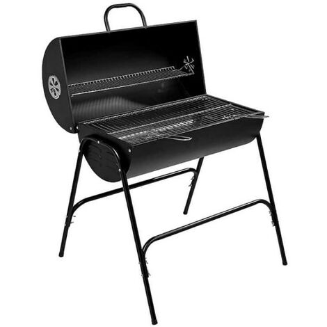 Charcoal barbecue with lid - Metal - 79x71x90 cm