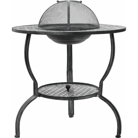 Charcoal BBQ Grill Antique Grey 70x67 cm