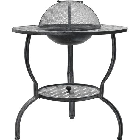Charcoal BBQ Grill Antique Grey 70x67 cm(Barbecue grill not included)