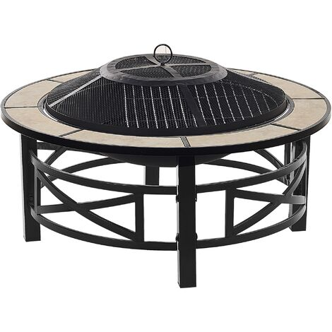 Charcoal Fire Pit Black HIERRO