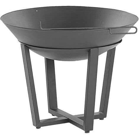Charcoal Fire Pit Black KEDUNG