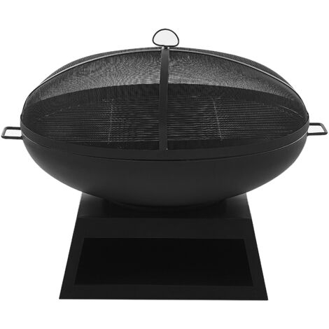 Charcoal Fire Pit Black SEMERU