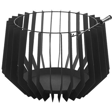 Charcoal Fire Pit Black UBINAS