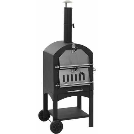 Charcoal Fired Outdoor Pizza Oven with Fireclay Stone