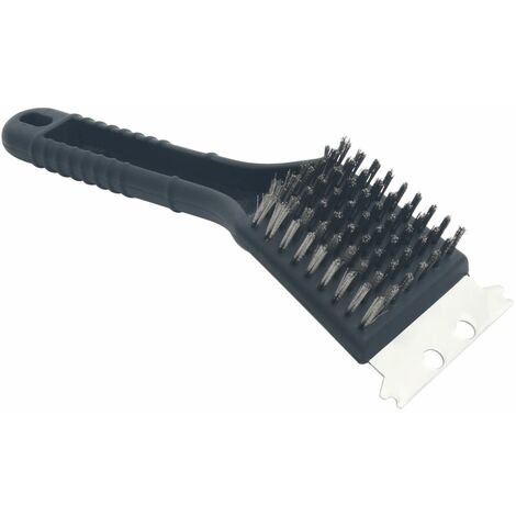 Charcoal/Gas BBQ Grill Brush Copper Wire - Black