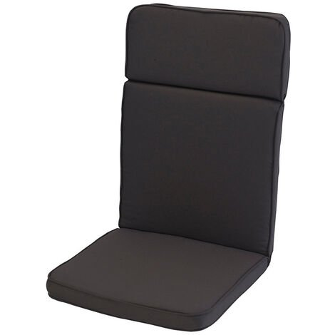 Charcoal Grey High Recliner Cushion Outdoor Garden Furniture Cushion